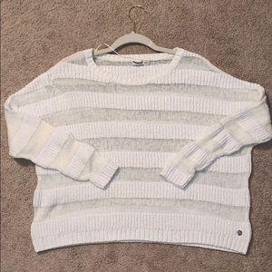 Roxy White Striped Sweater